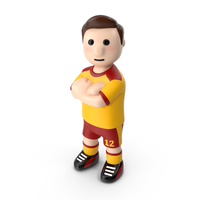 Football Player with Arms Crossed PNG & PSD Images