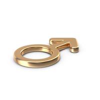 Gold Male Gender Symbol PNG & PSD Images