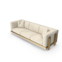 Three Seater Beige Sofa PNG & PSD Images