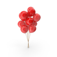 Red Balloons PNG & PSD Images