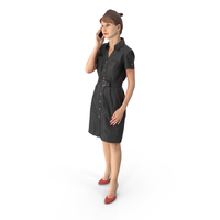 Business Woman on Phone PNG & PSD Images