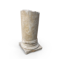 Medieval Stone Column Piece PNG & PSD Images