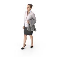 Business Woman Holding Jacket PNG & PSD Images