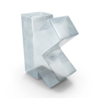 Ice Letter K PNG & PSD Images