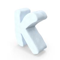 Snow Letter K PNG & PSD Images