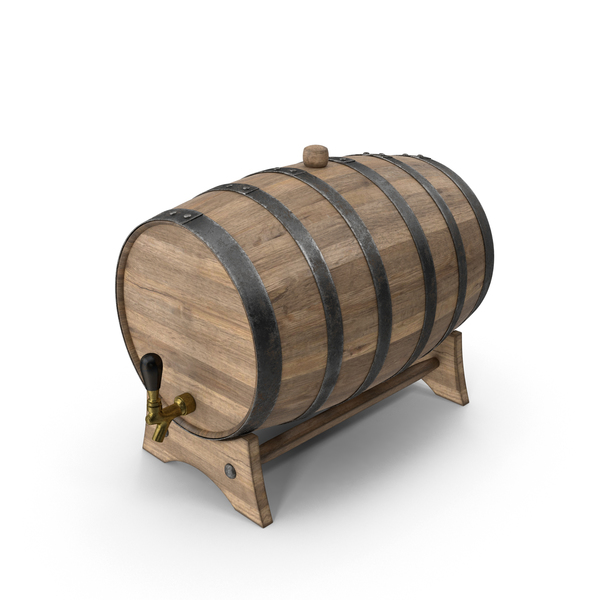 Walnut Whiskey Barrel PNG & PSD Images