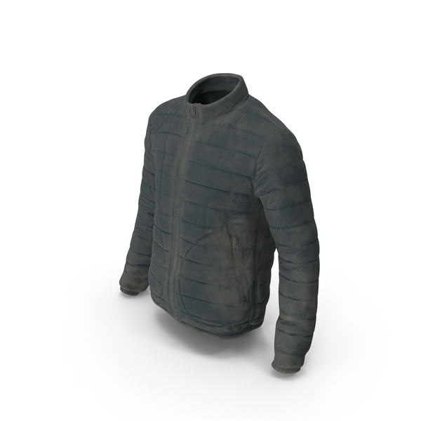 Men's Dirty Down Jacket PNG & PSD Images