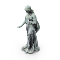 Bronze Woman Statue PNG & PSD Images