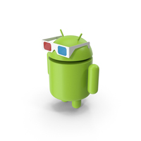 Android Watching 3D PNG & PSD Images