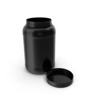 Plastic Bottles Wide Mouth Gallon Black Open PNG & PSD Images
