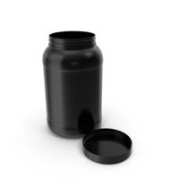 Plastic Bottle Wide Mouth Gallon Black Open PNG & PSD Images