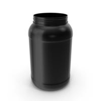 Plastic Bottles Wide Mouth Gallon Black PNG & PSD Images
