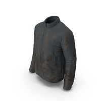 Men's Muddy Down Jacket PNG & PSD Images