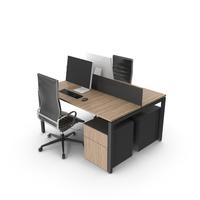 Dual Desk Unit PNG & PSD Images