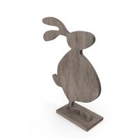 Wood Easter Rabbit Decoration PNG & PSD Images
