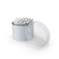 Cotton Buds in Round Box PNG & PSD Images