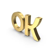 Golden OK PNG & PSD Images
