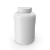 Plastic Bottles Wide Mouth 2 4 Gallon White PNG & PSD Images