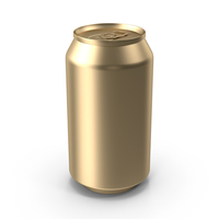 Gold Can PNG & PSD Images