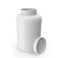 Plastic Bottle Wide Mouth 2.4 Gallon White Open PNG & PSD Images