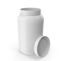 Plastic Bottle Wide Mouth 1 Gallon White Open PNG & PSD Images