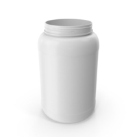 Plastic Bottle Wide Mouth 1.5 Gallon White Without Lid PNG & PSD Images