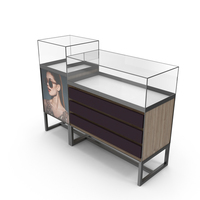 Commercial Jewelry Display Cabinet PNG & PSD Images
