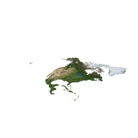 North America Continent Map PNG & PSD Images