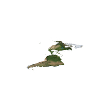 The Americas Continental Map PNG & PSD Images
