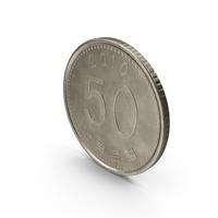 South Korea 50 Won Coin PNG & PSD Images