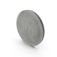 South Korea 500 Won Coin PNG & PSD Images