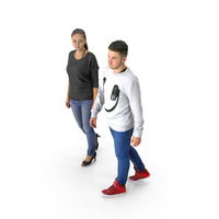 Man and Woman Walking PNG & PSD Images