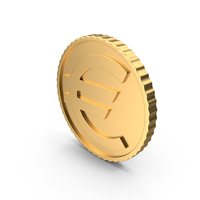 Gold Euro Coin PNG & PSD Images