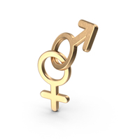 Feminine Male Beginning Gold PNG & PSD Images
