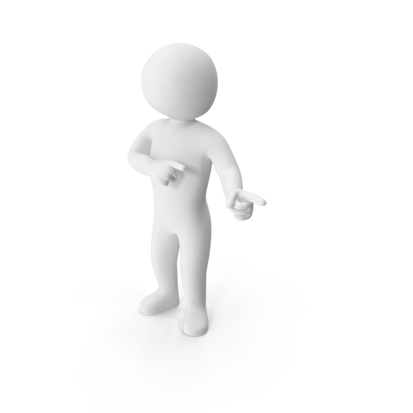 Stickman Pointing PNG & PSD Images