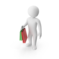 Stickman Shopping PNG & PSD Images