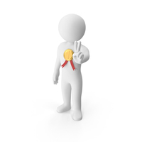 Stickman With Gold Medal PNG & PSD Images
