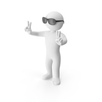 Stickman Wearing Sunglasses PNG & PSD Images