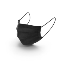 Surgical Mask Blaсk PNG & PSD Images