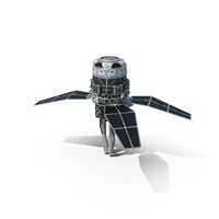 Sci-fi Orbital Cannon Satellite PNG & PSD Images