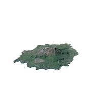 Sakurajima Volcano Island Map PNG & PSD Images