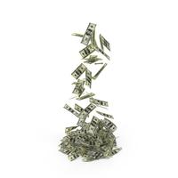Falling $100 Bills PNG & PSD Images