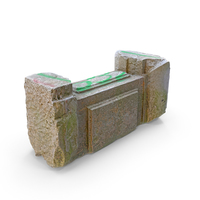 Old Concrete Block With Graffiti PNG & PSD Images