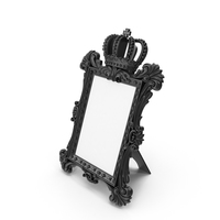Baroque Photo Frame Black PNG & PSD Images