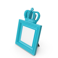 Baroque Photo Frame Blue Green PNG & PSD Images