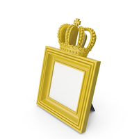 Baroque Photo Frame Yellow PNG & PSD Images