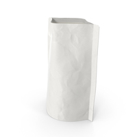 Stand Up Zipper Pouch 70g Open White PNG & PSD Images