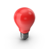 Red  Light Bulb PNG & PSD Images