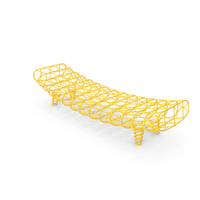 Moroso Gaal Designer Yellow Bench PNG & PSD Images