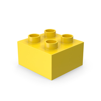 2x2 Yellow Brick Toy PNG & PSD Images